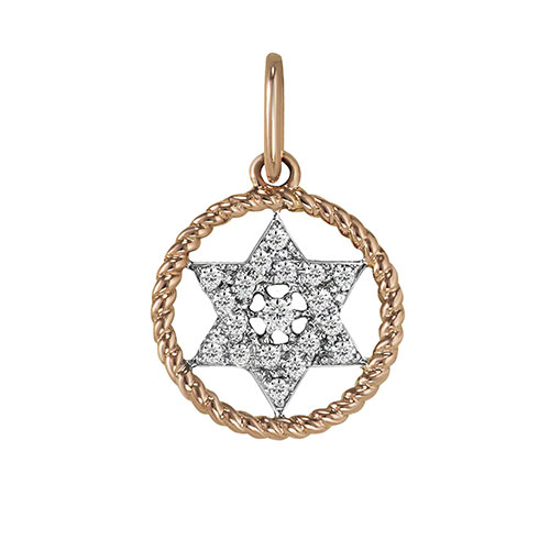 Кулон из золота с бриллиантами, фото