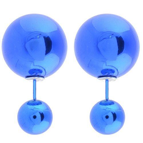 Глянцевые пусеты Jewels цвета электро-ультрамарин, фото