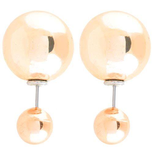 Ассиметричные пусеты Jewels золотого цвета глянцевые, фото