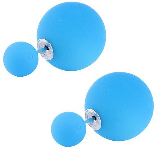 Серьги пусеты Jewels матовые синего цвета, фото