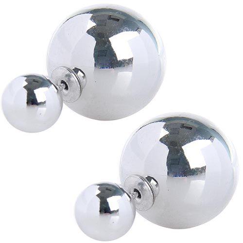 Серьги пусеты Jewels серебристый металлик, фото