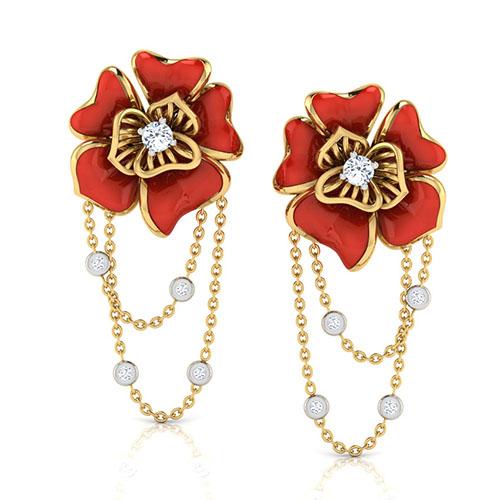 Золотые серьги Perfecto Jewellery с бриллиантами je03607-ygp9rp, фото
