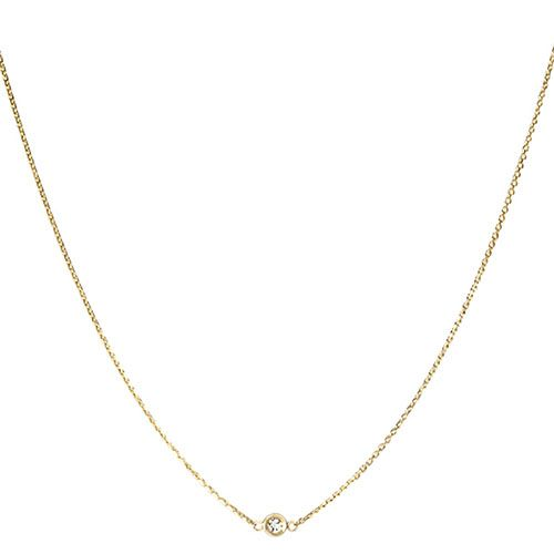 Золотая цепочка с бриллиантом Jealous Jewelry Gloss, фото