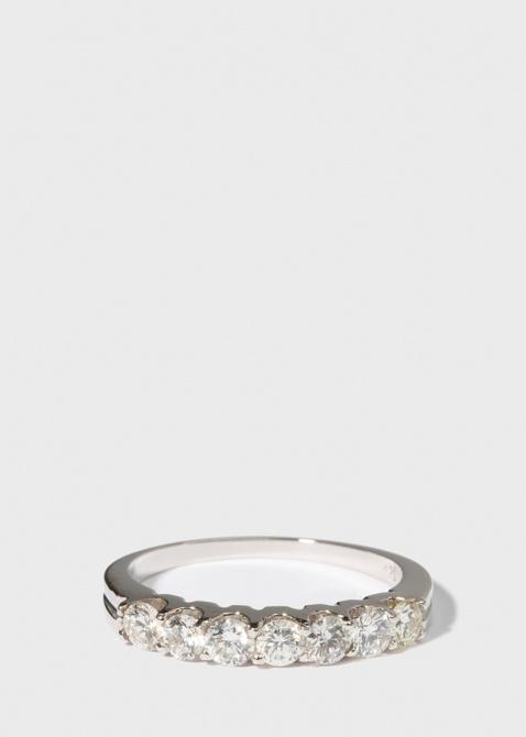 Золотое кольцо Gemmis с бриллиантовой дорожкой, фото