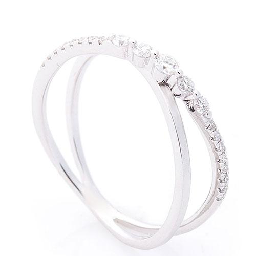 Перекрестное кольцо Оникс с бриллиантами, фото