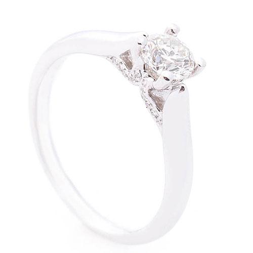 Кольцо помолвочное Оникс с бриллиантами, фото