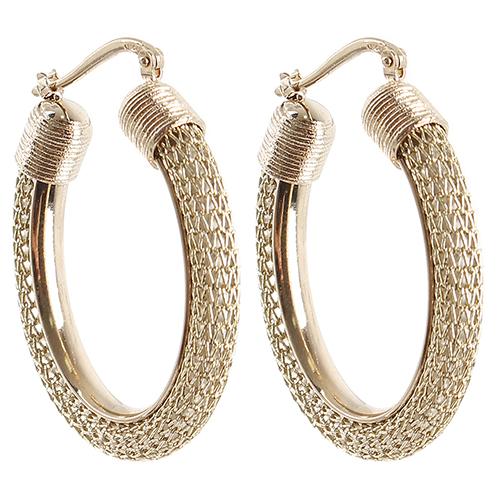 Серебряные серьги Elisabeth Landeloos в позолоте, фото