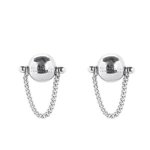 Серебряные серьги-пусеты Elisabeth Landeloos в форме шариков, фото