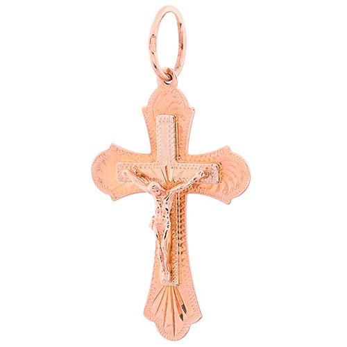 Православный крестик из красного золота, фото