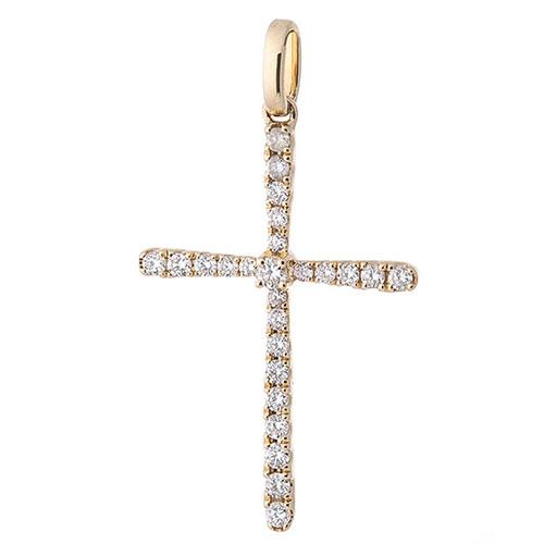 Золотая подвеска Оникс с бриллиантами, фото
