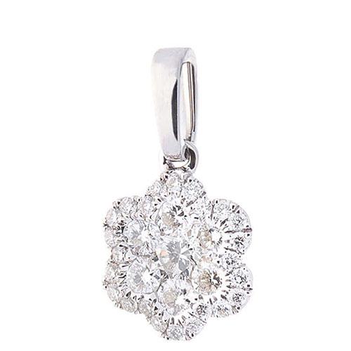 Подвеска-цветок с бриллиантами, фото