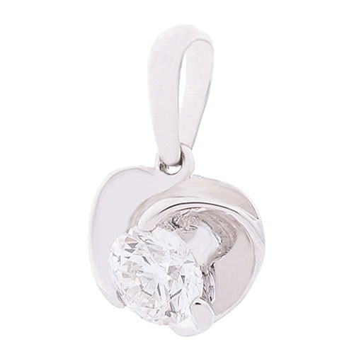 Кулон Оникс из белого золота с бриллиантом, фото
