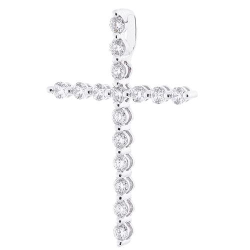 Крестик Оникс золотой с бриллиантами, фото