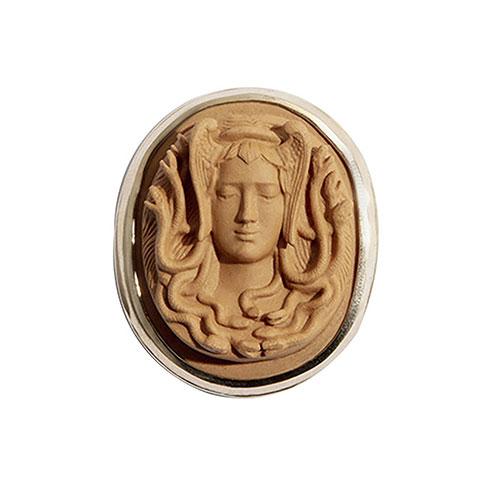 Сменный подвес к базе rockah. Siren's Treasures Горгона из коричневого фарфора, фото