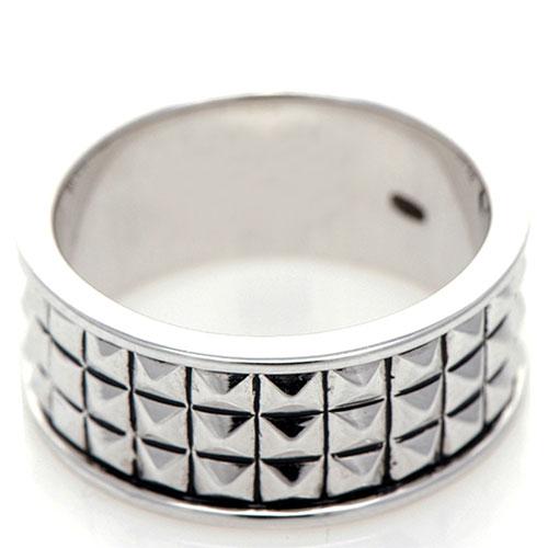 Широкое кольцо 935 by Roberto Bravo с шипами, фото