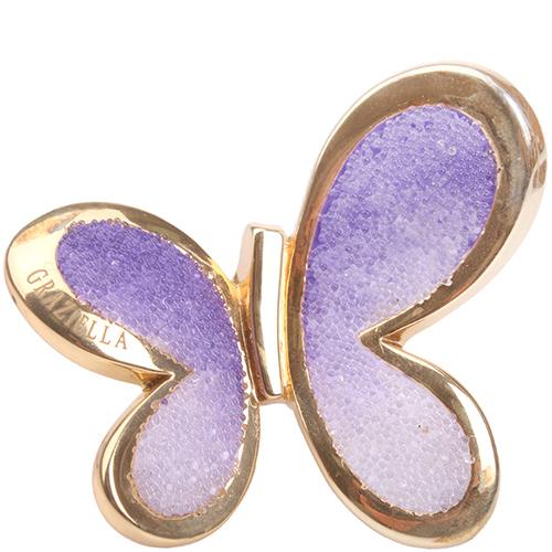 Кольцо Graziella Бабочка фиолетового цвета, фото