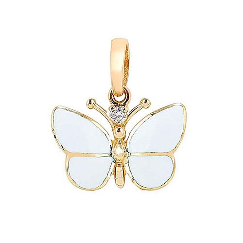 Кулон Roberto Bravo White Dreams с белой бабочкой , фото