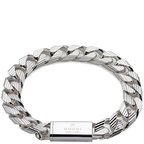 Браслет Gucci из серебра Trademark Stripes (slim version), фото