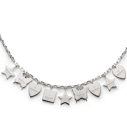 Браслет Gucci из серебра Trademark charm bracelet, фото