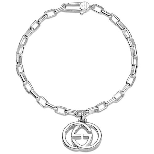 Браслет-цепочка Gucci G's с подвеской из стерлингового серебра, фото