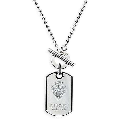 Подвеска Gucci из серебра Dog Tag, фото