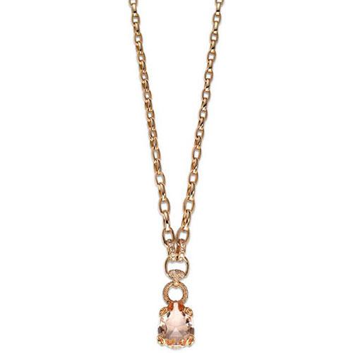 Колье из розового золота Gucci Horsebit с бриллиантами и морганитом, фото