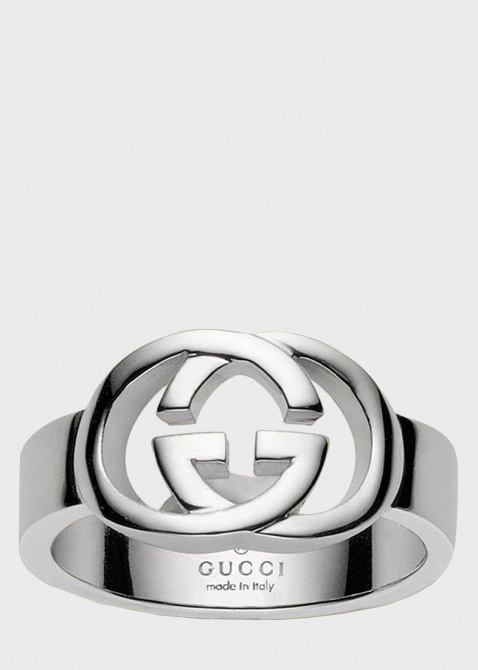Кольцо Gucci из серебра Silver Britt (slim version), фото