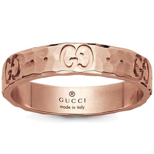Женское кольцо Gucci Icon из отчеканенного розового золота, фото