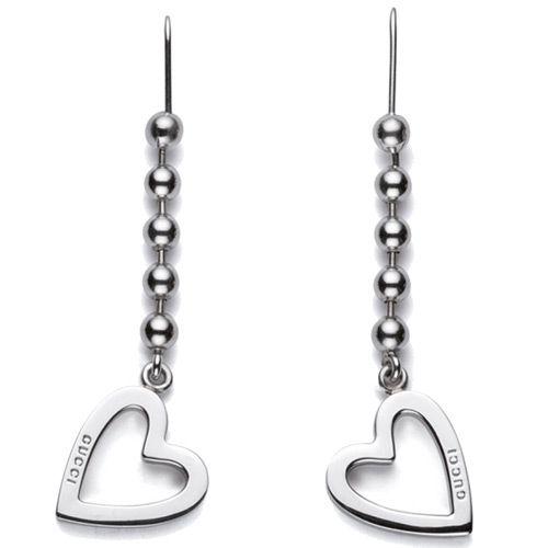 Серьги Gucci из серебра Toggle Heart, фото