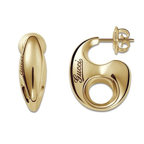 Серьги-гвоздики Gucci Marina Chain из желтого золота в форме звена цепочки, фото