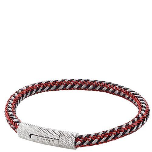 Кожаный браслет ZEADES со стальной застежкой, фото