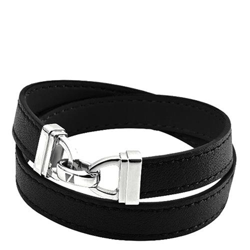 Мужской браслет Zeades из кожи черного цвета, фото
