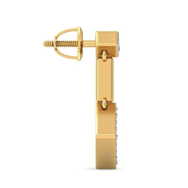 Золотые серьги Kiev Jewelry Delna с бриллиантами 000646-50399