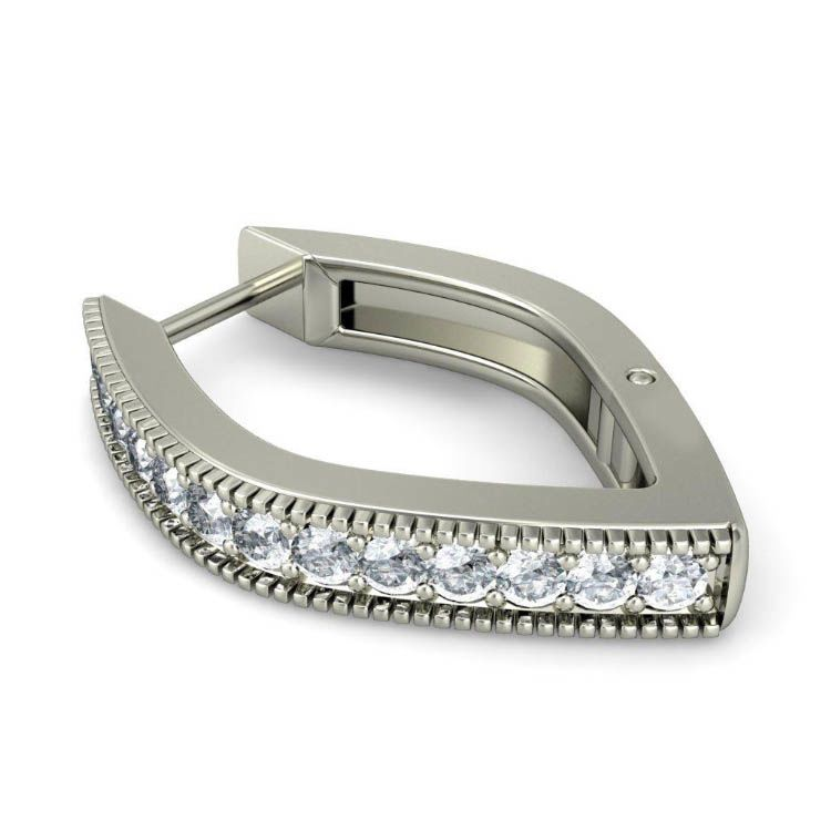 Серьги из белого золота Kiev Jewelry Arva с бриллиантами 000703-1046329