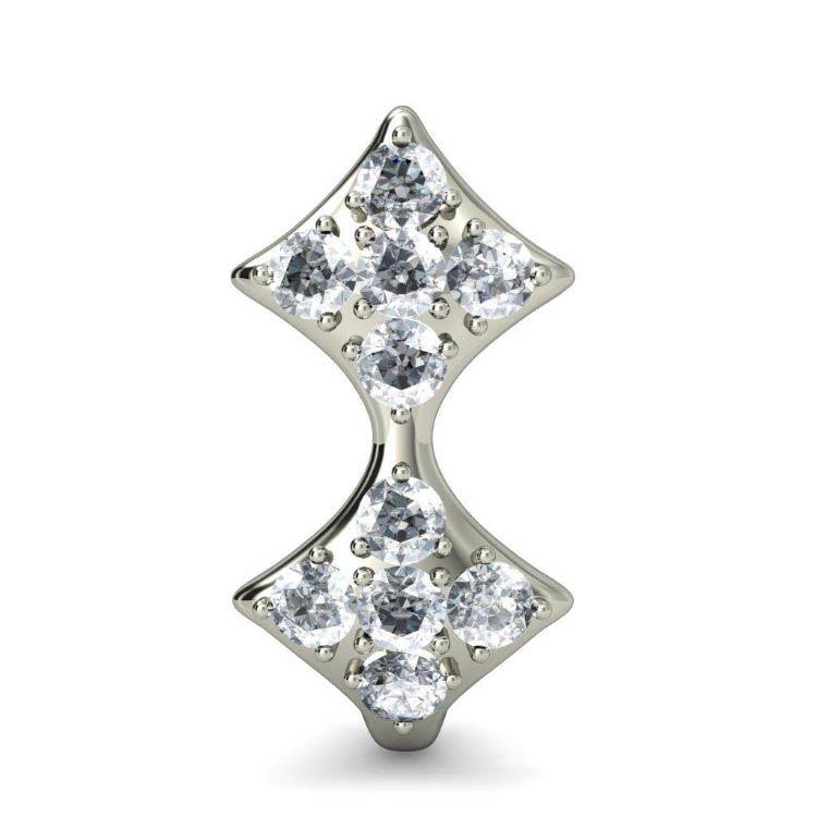 Серьги из белого золота Kiev Jewelry Aryz с бриллиантами 000705-1046338