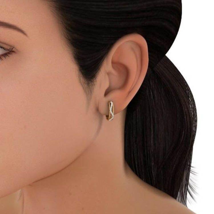 Серьги Kiev Jewelry Aveal инкрустированные бриллиантами 000714-1046366
