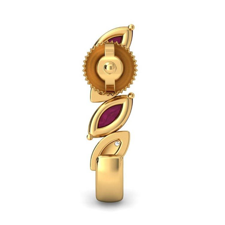 Золотые серьги Kiev Jewelry Veronia с рубинами и бриллиантами 000738-1046442