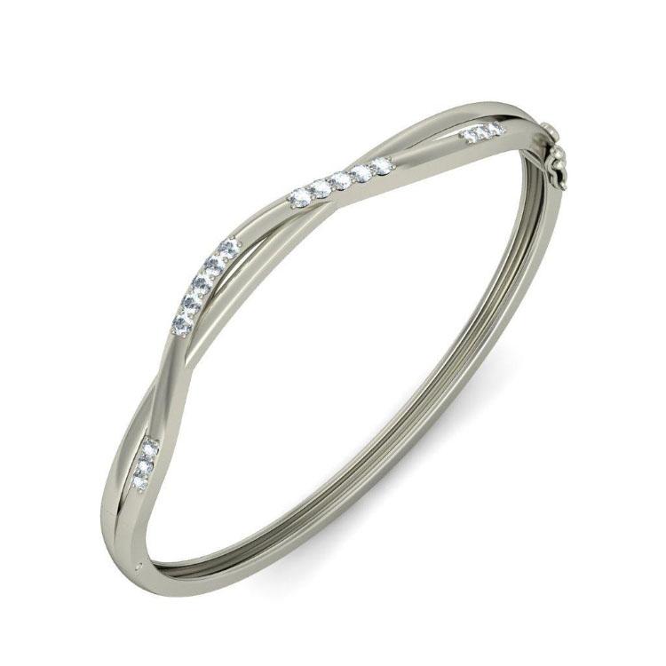 Золотой браслет Kiev Jewelry Izar с фианитами 000956-1046983-f