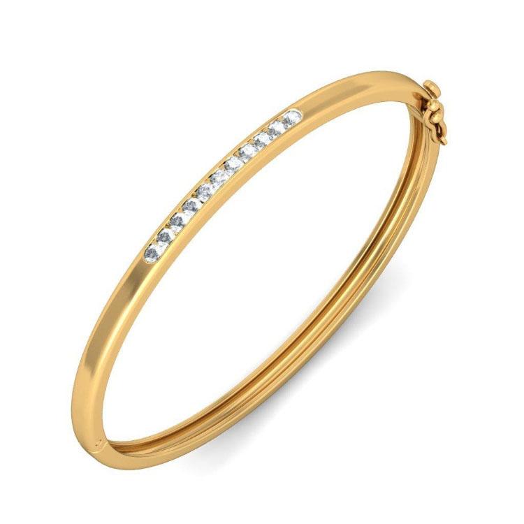 Золотой браслет Kiev Jewelry Soyiah с фианитами 000971-1047045-f