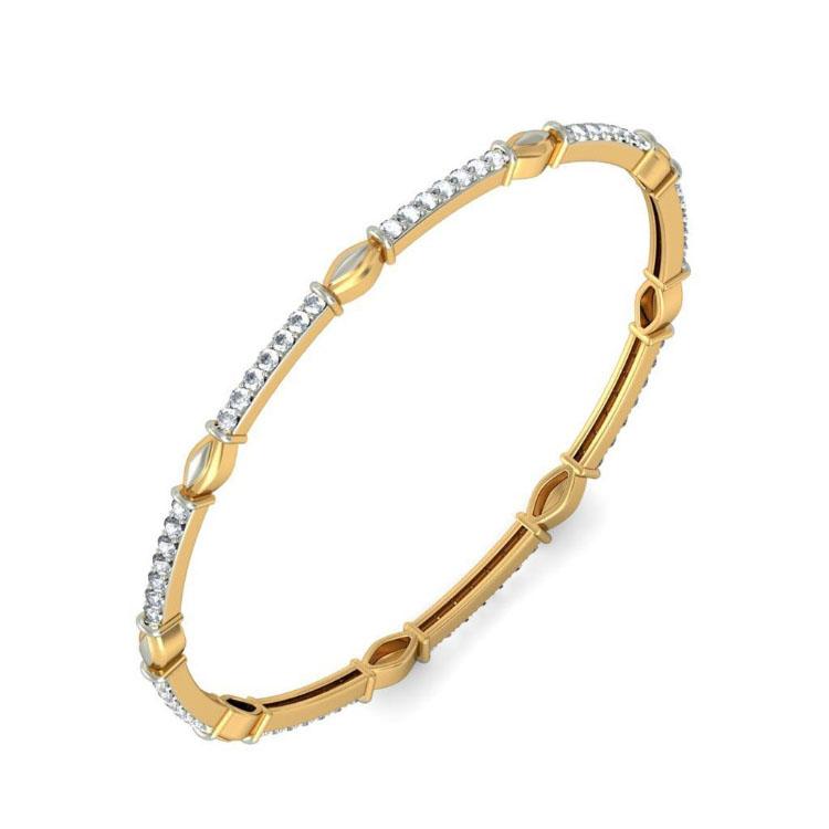 Золотой браслет Kiev Jewelry Hansa с фианитами 001881-1049571-f