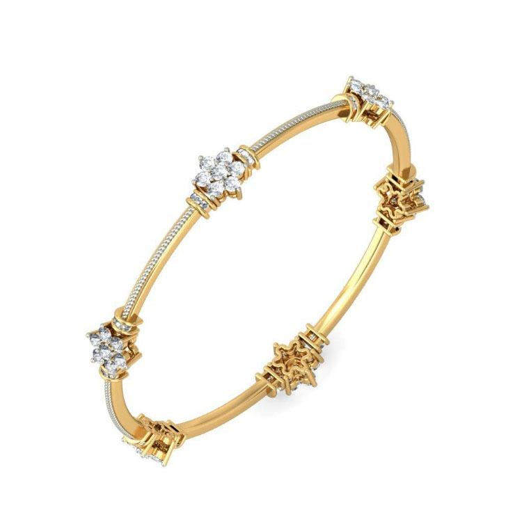 Золотой браслет Kiev Jewelry Chaya с фианитами 001883-1049578-f