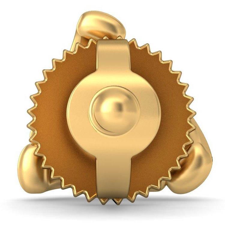 Серьги-пусеты из золота Kiev Jewelry Trois с бриллиантами 002055-1050098