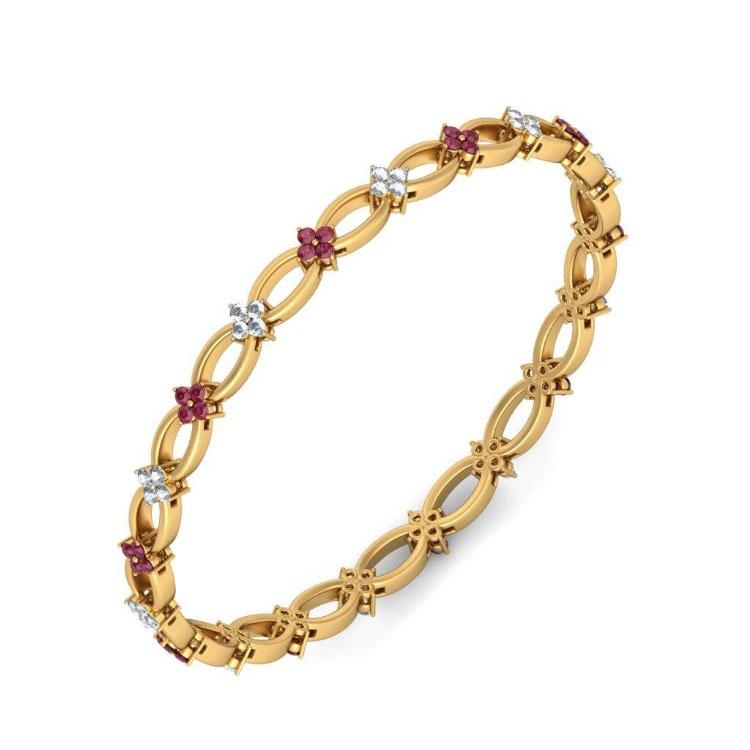 Золотой браслет Kiev Jewelry Nivritti с фианитами 002100-1050222-f
