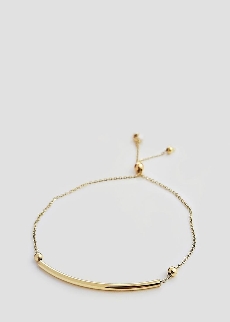 Золотой браслет Itisi с гладкой вставкой