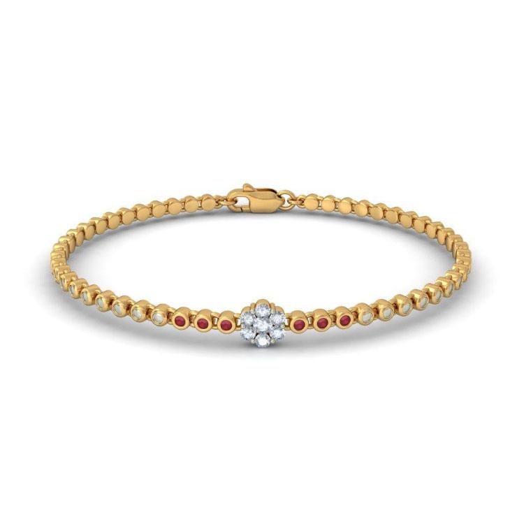 Золотой браслет Kiev Jewelry Dainty Diva с фианитами 003384-1249521-f