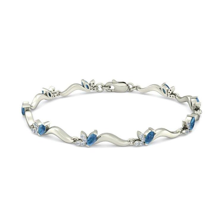 Золотой браслет Kiev Jewelry Young Blossoms с фианитами 003397-1249613-f