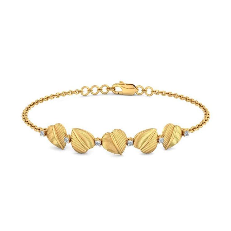 Золотой браслет Kiev Jewelry Striking Flora с фианитами 005048-2566827-f