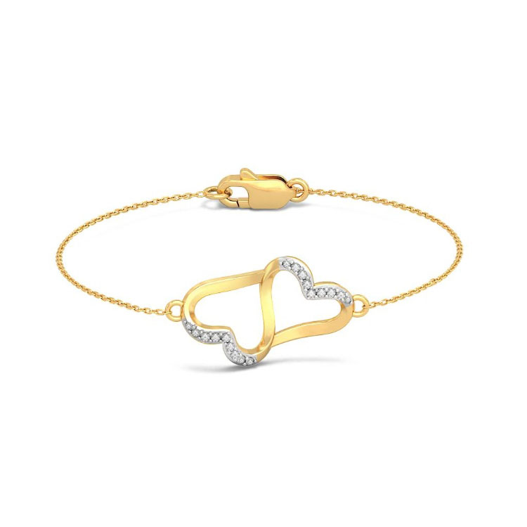 Золотой браслет Kiev Jewelry Anchored Love с фианитами 005556-3059396-f