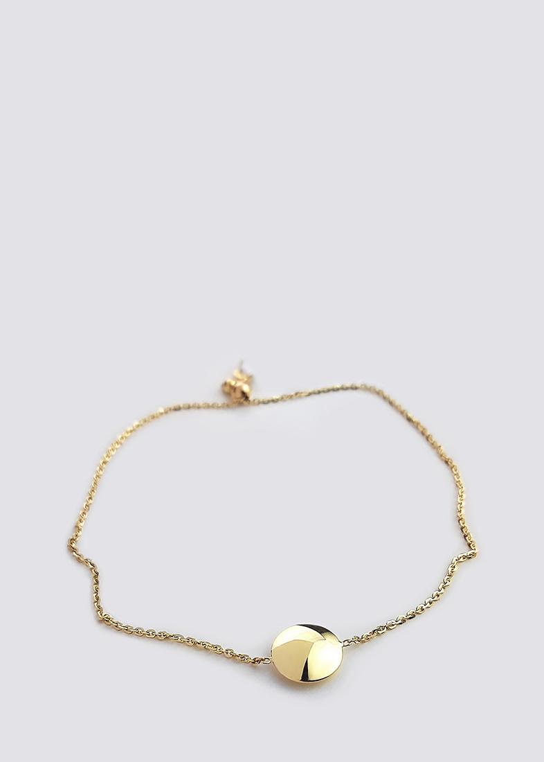 Браслет из желтого золота Itisi с круглой вставкой