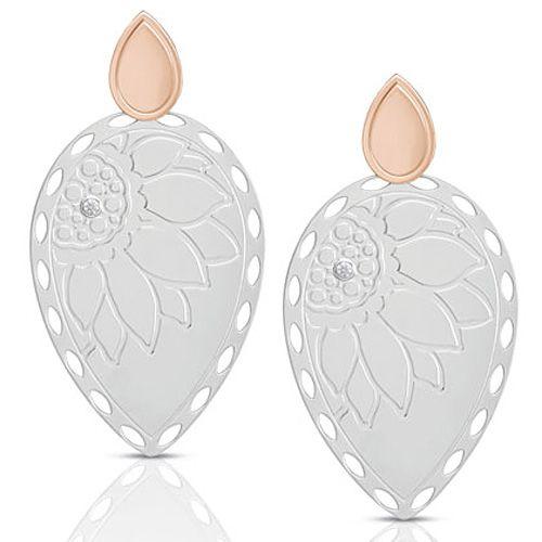 Серьги-пусеты Nomination Demetra с цирконами и отделкой розовым золотом